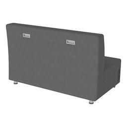Shapes Series II Vinyl Soft Seating Sofa - Gray Seat & Back - Handles