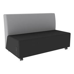 Shapes Series II Vinyl Soft Seating Sofa - Black Seat & Light Gray Back