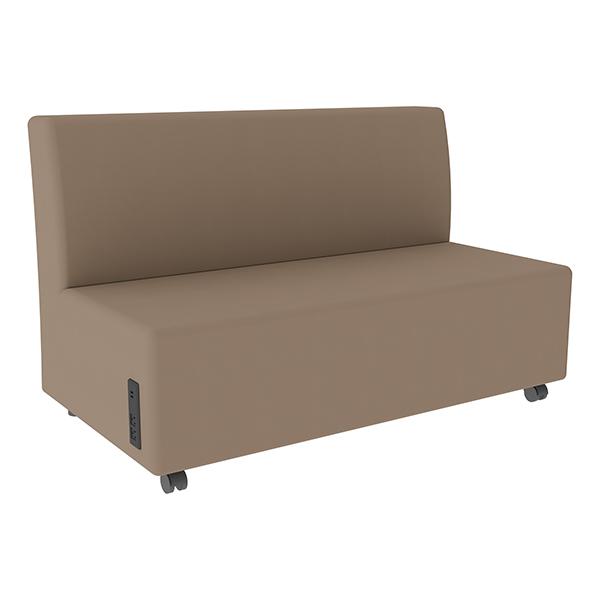 Shapes Series II Vinyl Soft Seating Sofa - Taupe Seat \u0026 Back