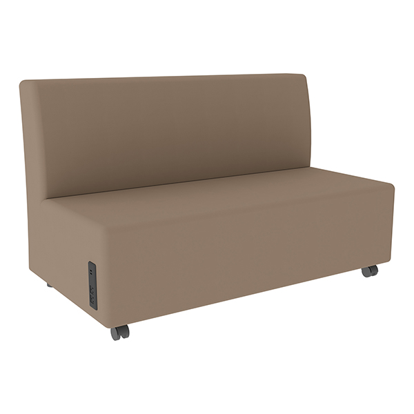 Shapes Series II Vinyl Soft Seating Sofa   Taupe Seat U0026 Back