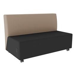 Shapes Series II Vinyl Soft Seating Sofa - Black Seat & Taupe Back