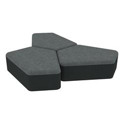"Shapes Series II Designer Soft Seating - 12"" H CommunEDI Three-Pack - Atomic/Navy"