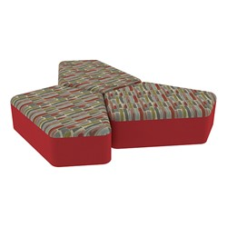 "Shapes Series II Designer Soft Seating - 12"" H CommunEDI Three-Pack - Confetti/Red"
