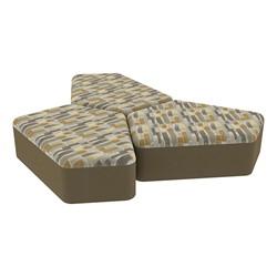"Shapes Series II Designer Soft Seating - 12"" H CommunEDI Three-Pack - Desert/Chocolate"