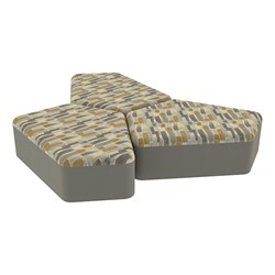 "Shapes Series II Designer Soft Seating - 12"" H CommunEDI Three-Pack - Desert/Taupe"