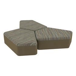 "Shapes Series II Designer Soft Seating - 12"" H CommunEDI Three-Pack - Pecan/Chocolate"