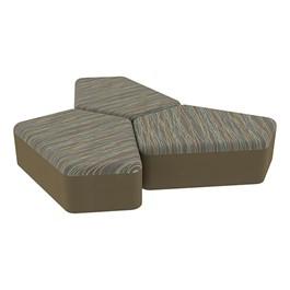 "Shapes Series II Designer Soft Seating - 12\"" H CommunEDI Three-Pack - Pecan/Chocolate"