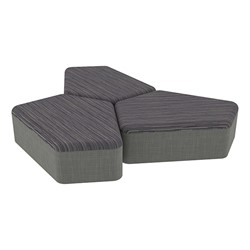 "Shapes Series II Designer Soft Seating - 12"" H CommunEDI Three-Pack - Pepper/Gray"
