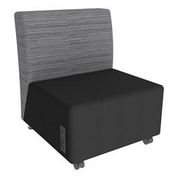 Shapes Series II Designer Soft Seating Chair - Black Seat & Pepper Back