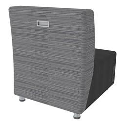 Shapes Series II Designer Soft Seating Chair - Black Seat & Pepper Back - Back