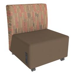 Shapes Series II Designer Soft Seating Chair - Chocolate Seat & Dark Latte Back