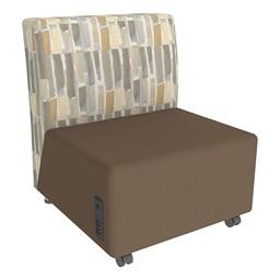 Shapes Series II Designer Soft Seating Chair - Chocolate Seat & Desert Back