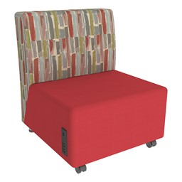 Shapes Series II Designer Soft Seating Chair - Red Seat & Confetti Back
