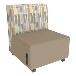 Shapes Series II Designer Soft Seating Chair - Taupe Seat & Desert Back