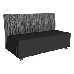 Shapes Series II Designer Soft Seating Sofa - Black Seat & Peppercorn Back