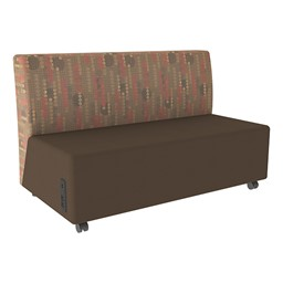Shapes Series II Designer Soft Seating Sofa - Chocolate Seat & Dark Latte Back