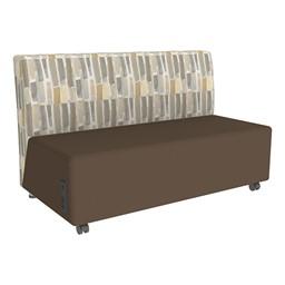 Shapes Series II Designer Soft Seating Sofa - Chocolate Seat & Desert Back