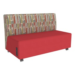 Shapes Series II Designer Soft Seating Sofa - Red Seat & Confetti Back