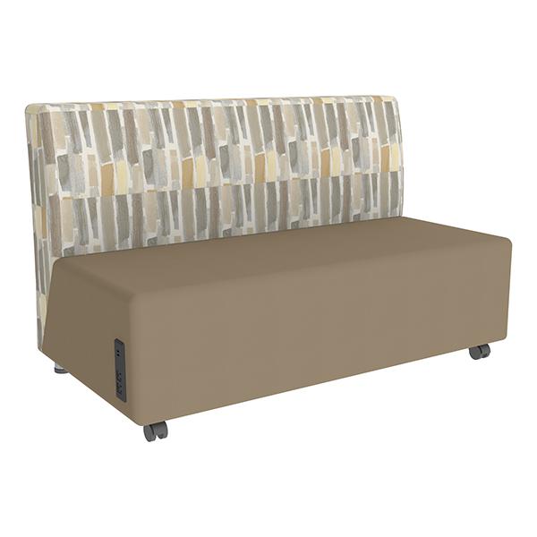 Shapes Series II Designer Soft Seating Sofa - Taupe Seat \u0026 Desert Back