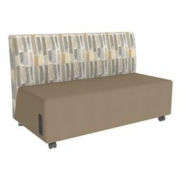 Shapes Series II Designer Soft Seating Sofa - Taupe Seat & Desert Back