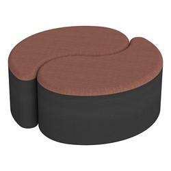 "Shapes Series II Designer Soft Seating - 12"" H Teardrop Pack of Two - Brick/Black"