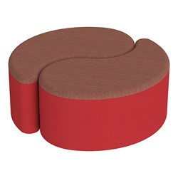 """Shapes Series II Designer Soft Seating - 12"""" H Teardrop Pack of Two - Brick/Red"""