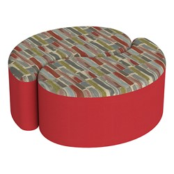 """Shapes Series II Designer Soft Seating - 12"""" H Teardrop Pack of Two - Confetti/Red"""