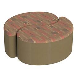 "Shapes Series II Designer Soft Seating - 12"" H Teardrop Pack of Two - Dark Latte/Chocolate"