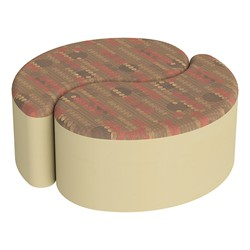 "Shapes Series II Designer Soft Seating - 12"" H Teardrop Pack of Two - Dark Latte/Sand"