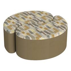 "Shapes Series II Designer Soft Seating - 12"" H Teardrop Pack of Two - Desert/Chocolate"