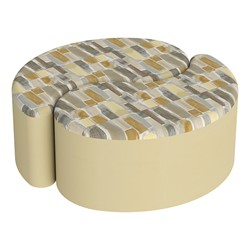 "Shapes Series II Designer Soft Seating - 12"" H Teardrop Pack of Two - Desert/Sand"