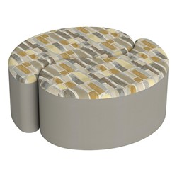 """Shapes Series II Designer Soft Seating - 12"""" H Teardrop Pack of Two - Desert/Taupe"""