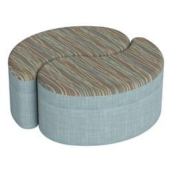 "Shapes Series II Designer Soft Seating - 12"" H Teardrop Pack of Two - Pecan/Blue"