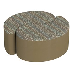 "Shapes Series II Designer Soft Seating - 12"" H Teardrop Pack of Two - Pecan/Chocolate"