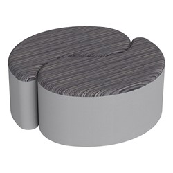 """Shapes Series II Designer Soft Seating - 12"""" H Teardrop Pack of Two - Pepper/Light Gray"""