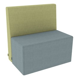 Shapes Series II Structured Vinyl Soft Seating - Rectangle - Green Back & Blue Seat