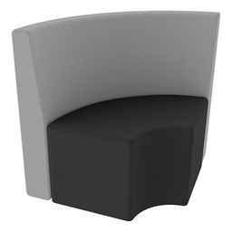 Shapes Series II Structured Soft Seating - Vinyl - Quarter Round