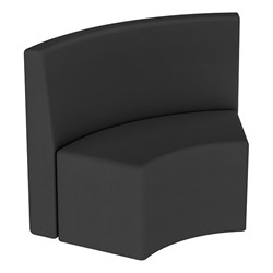Shapes Series II Structured Vinyl Soft Seating - S-Curve - Black Back & Seat