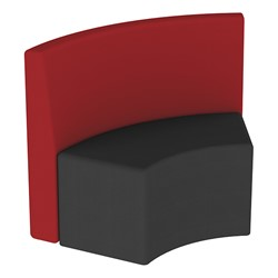 Shapes Series II Structured Vinyl Soft Seating - S-Curve - Burgundy Back & Black Seat