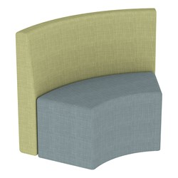 Shapes Series II Structured Vinyl Soft Seating - S-Curve - Green Back & Blue Seat