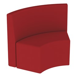 Shapes Series II Structured Vinyl Soft Seating - S-Curve - Burgundy Back & Seat