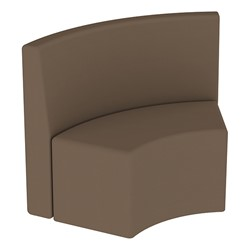 Shapes Series II Structured Vinyl Soft Seating - S-Curve - Chocolate Back & Seat