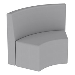 Shapes Series II Structured Vinyl Soft Seating - S-Curve - Gray Back & Seat