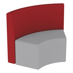 Shapes Series II Structured Vinyl Soft Seating - S-Curve - Burgundy Back & Gray Seat