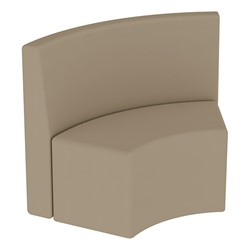 Shapes Series II Structured Vinyl Soft Seating - S-Curve - Taupe Back & Seat