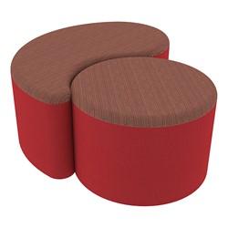 "Shapes Series II Designer Soft Seating - 12"" H Cylinder & 12"" H Teardrop (Pack of Two) - Brick/Sand"