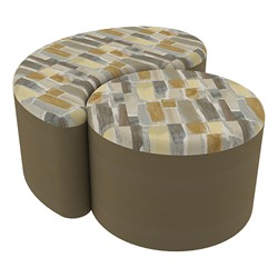 "Shapes Series II Designer Soft Seating - 12"" H Cylinder & 12"" H Teardrop (Pack of Two) - Desert/Chocolate"