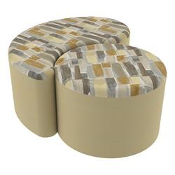 "Shapes Series II Designer Soft Seating - 12"" H Cylinder & 12"" H Teardrop (Pack of Two) - Desert/Sand"