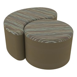 "Shapes Series II Designer Soft Seating - 12"" H Cylinder & 12"" H Teardrop (Pack of Two) - Pecan/Chocolate"