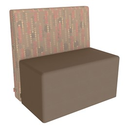 Shapes Series II Structured Designer Soft Seating - Rectangle - Dark Latte Back & Chocolate Seat